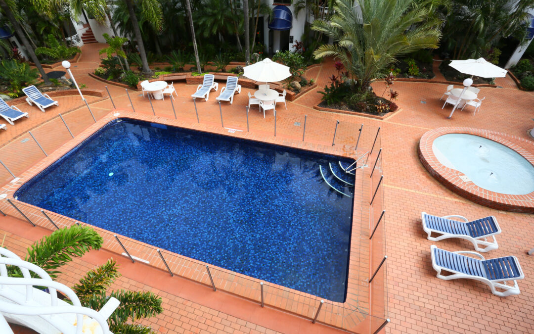 Stay Relaxed at Our Tropical Garden Outdoor Pool Area