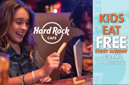 Kids Eat Free Sunday's Hard Rock Cafe